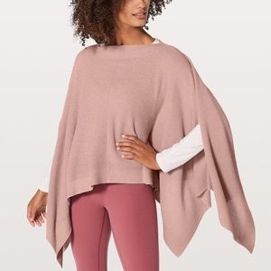 Lululemon Mink Berry Forward Flow Poncho/Cape OS